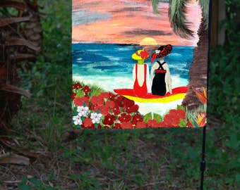 Endless Summer Garden Flag from art. Available in 2 sizes