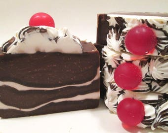Hot Fudge Sundae Handmade Cold Process Soap Vegan Soap