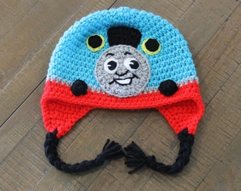 Thomas the Train Hat - Handmade to Order - Newborn to Adult