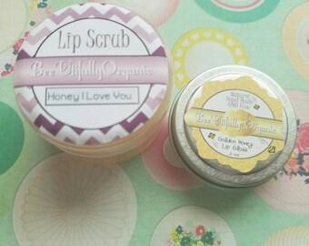 Lip Scrub - Lipscrub - Lips - Natural Lip Scrub - Honey Lip Scrub - Sugar Lip Scrub - Lipgloss Set - Gold Lipgloss - Lip Scrub Set - Makeup