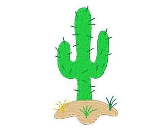 Cactus Machine Embroidery Design, Prickly Cactus, Desert Cactus, Plant Machine Embroidery Design, 4x4, Instant Download, No: JG00035-9