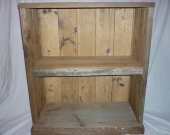 Reclaimed Barn Wood Book Case Display Cabinet Base
