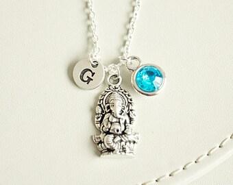Ganesh Necklace, Om Necklace, Ohm Bracelet,  Lord Ganesha Necklace, Hindu Necklace, Yoga Necklace, Meditation,Yoga inspired Jewelry, india