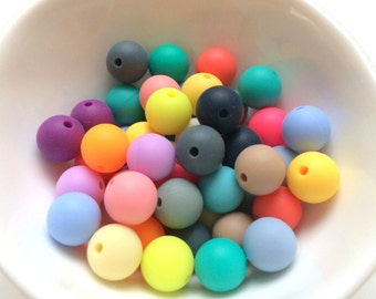 Silicone Beads 10mm x 30