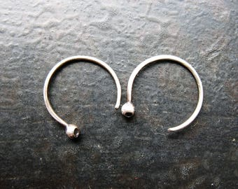 Ear Sprouts in Antiqued Sterling Silver - 1 pair - 20 gauge - 14mm