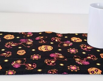 Day of the Dead Table Mat, Table Topper, Snack Mat, Snoopy Table Mat, Mexican Mat, Latino Mat