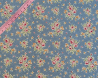 Tilda First Kiss Blue Fabric / Circus Collection - Full Metre / 1.09 yard