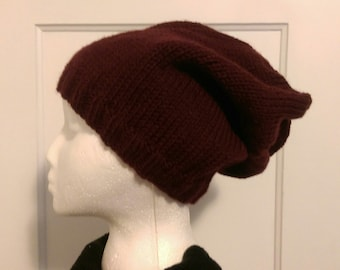Red / Blood Red Slouchy Hat