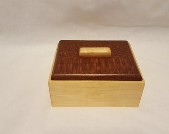 Wood Box, Maple and Lace Wood