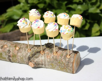 18 Cake Pop Holder Log, Rustic Party Cake Stand Display, Party Decor, Cakestand Rustic Bark, Cake Pop Table Centerpiece Treat Organizer