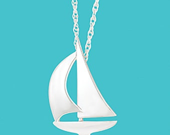Sailboat Necklace - Sterling Silver