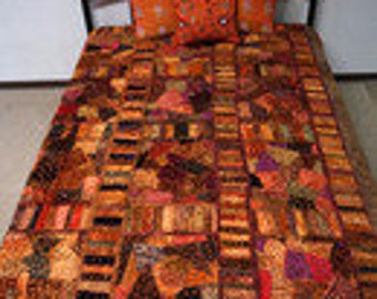 Patchwork from India Bedspread blanket