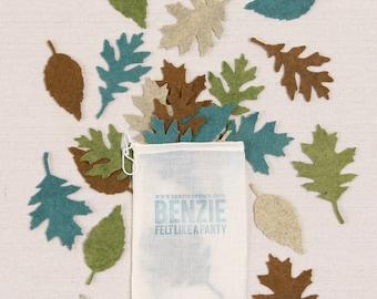 Felt Leaves // Felt-Fetti by Benzie // Leaf Die Cuts, Felt Autumn Oak Leaves, Felt Leaf Garland, Thanksgiving Garland, Fall Crafting, Felt