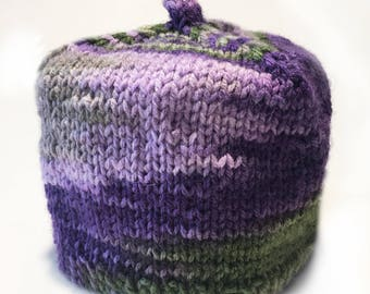 Multi Color Toilet Paper Cozy / Tissue Dust Cover / Knitted / Purple