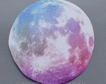 Pastel Moon sticker, dry/indoor use only