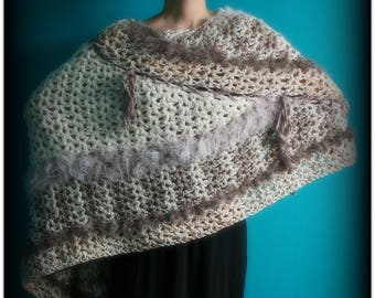 Crochet Poncho,Knit Poncho,Chunky Knit,Crochet Shawl,Knit Shawl,Wrap,Cloak,Cape,Sweater,Pullover,Handmade,Hippie,Gypsy,Boho,Womens Clothing