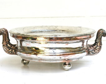 1800, French antique silver hot plate, great style, french home decor, Table Centerpiece, table center