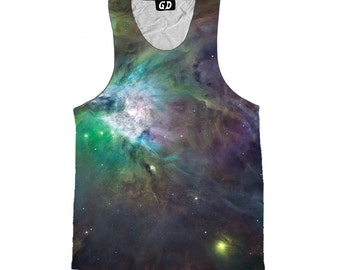 Psychedelic Space Tank Top - Galaxy - Festival Clothing - Sublimation Print - EDM Clothes