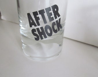 After Shock Shot Glass Vintage shot glass Bar Decor Bar Cart Decor Bar Breweriana Decor Brewers Gift Liquor Cake Toppers Beer