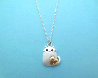Lovely, Cat, Gold, Silver, Necklace, Animal, Necklace, Birthday, Friendship, Mom, Sister, Gift, Jewelry