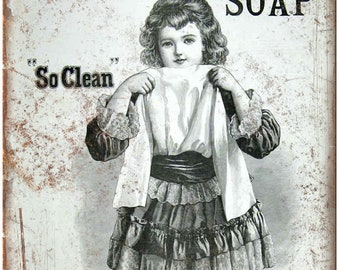 """Sunlight Soap Laundry Vintage Ad 10"""" X 7"""" Reproduction Metal Sign ZF16"""