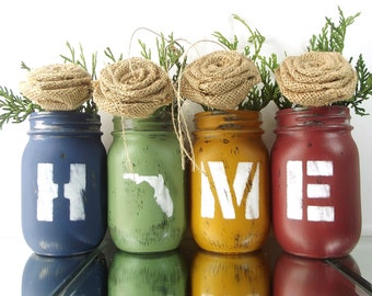 Florida Decor, Mason Jar Decor, Florida State, State Pride, Rustic Decor, Florida Home, Country Home Decor, Rustic Home Decor