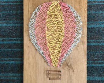 String art hot air balloon