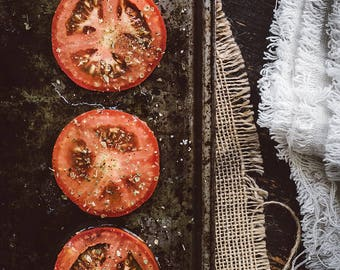 Food Photography, Food Art, Wall Art, Tomatoes, Home Decor, Kitchen Art, Restaurant Decor, Color Photography, Tomatoes