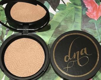 Aloha Paradise- HIGHLIGHTER- Handmade Cosmetics-Glow-Illuminatior-Gold- NEW-Face Product