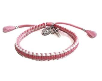 Tassel bracelet, Friendship bracelet, catholic bracelet, miraculous medal, tassel, christian bracelet,