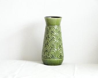 SALE Klein Keramik Green Retro Vase, Vintage Vas, Retro Seventies Home Decor