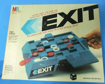 Vintage Milton Bradley Exit Game - The Pieces Shift With Every Tilt of the Board
