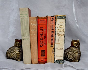 Greek Mythology Books - Decorative Books - Library Decor - Book Decor - Greek Myths & Legends - Decorative Book Bundle - Vintage Book Set -