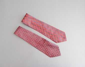 Neckties for men, vintage-style, the Red look, 50s 60s, Trevira