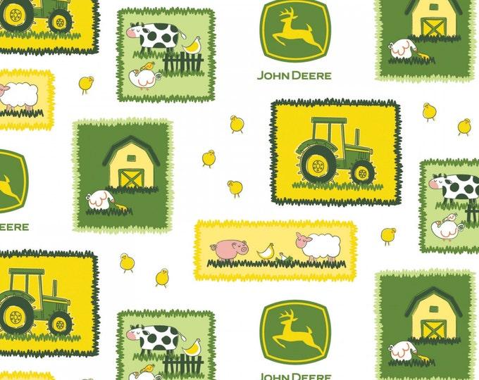 John Deere Farm Scene Cotton Fabric by Springs Creative