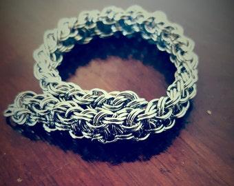 Kinged Vipera Berus Silver Bracelet
