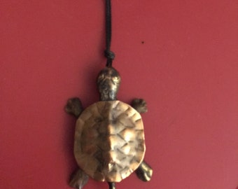 bronze and copper turtle pendant/toy