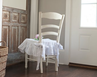 Seat Cover-Ruffled Linen with a 6 inch Ruffle