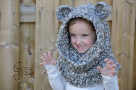 Un\'bear\'ably Cute Hooded Cowl Crochet Pattern pdf (Scoodie) from ...