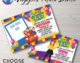 Wiggles Blackboard Invitation Wiggles Invitation Wiggles