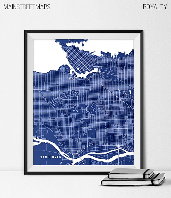 Vancouver map print vancouver poster of british columbia map description vancouver bc city map gumiabroncs Gallery