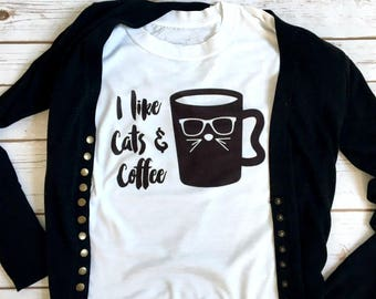 Cats & Coffee Graphic Tees