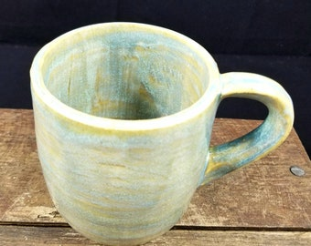 Turquoise Ceramic Mug,Teal Mug,Coffee Mug,Pottery Mug,Ceramic Mug,Ceramic Coffee Cup,Pottery Coffee Cup,Large Coffee cup,coffee mug