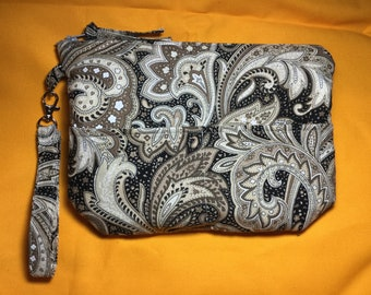Paisley small purse Brown and taupe