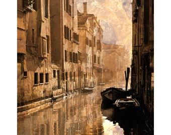 Venice Photography, Venezia , Veneto, Venice Canals, Painterly Photograph, Large Wall Art, City of Canals