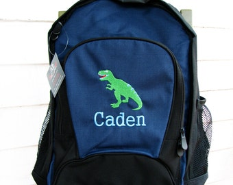 Personalized dinosaur backpack, boys backpack, personalized backpack, t rex backpack, gift for kids, personalized gift