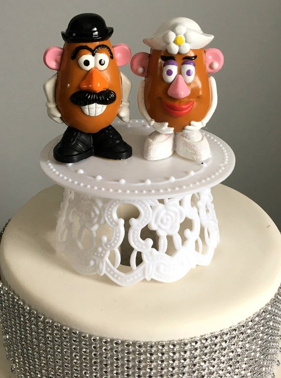 Mr Mrs Potato Head Wedding Cake Topper Disney S Toy Story Characters Keepsake Gift Bride And Groom Diy