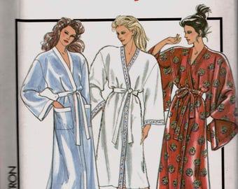 Style 1427 1980s Misses Wrap Robe Pattern Japanese Yukata Style Draped Sleeves Womens Vintage Sewing Pattern Size Medium Bust 36 38  UNCUT