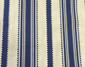 White - Navy - White - Upholstery Fabric by the Yard