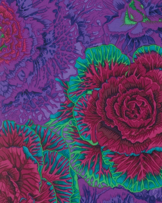 BRASSICA PURPLE Fall 2015 Philip Jacobs for Kaffe Fassett Collective Sold in 1/2 yd increments